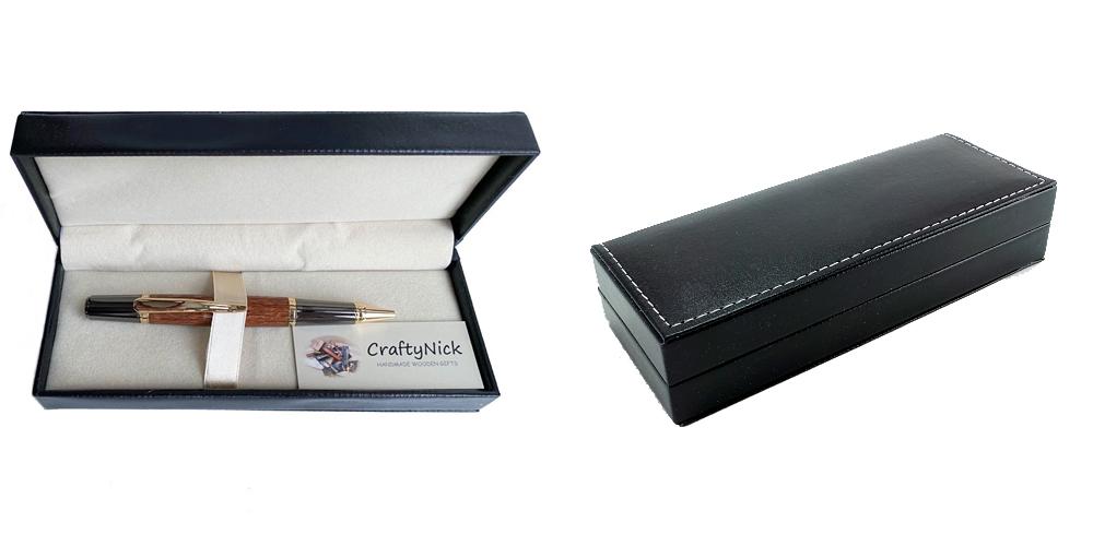 A Black Leatherette Pen Box
